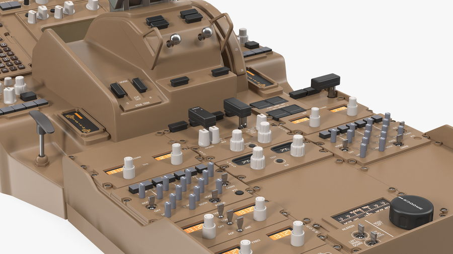 Throttle Control Panel royalty-free 3d model - Preview no. 11