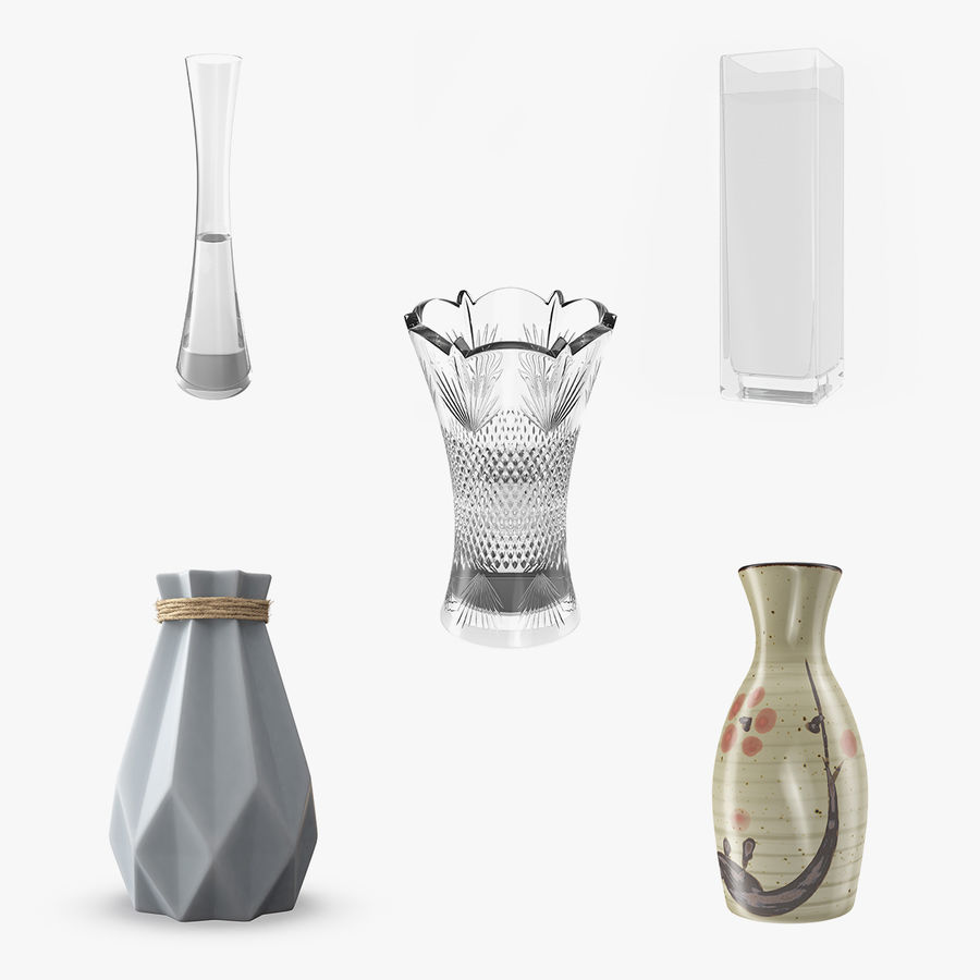 Vases Models Collection 4 royalty-free 3d model - Preview no. 1