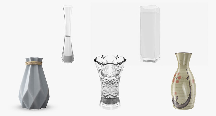 Vases Models Collection 4 royalty-free 3d model - Preview no. 2