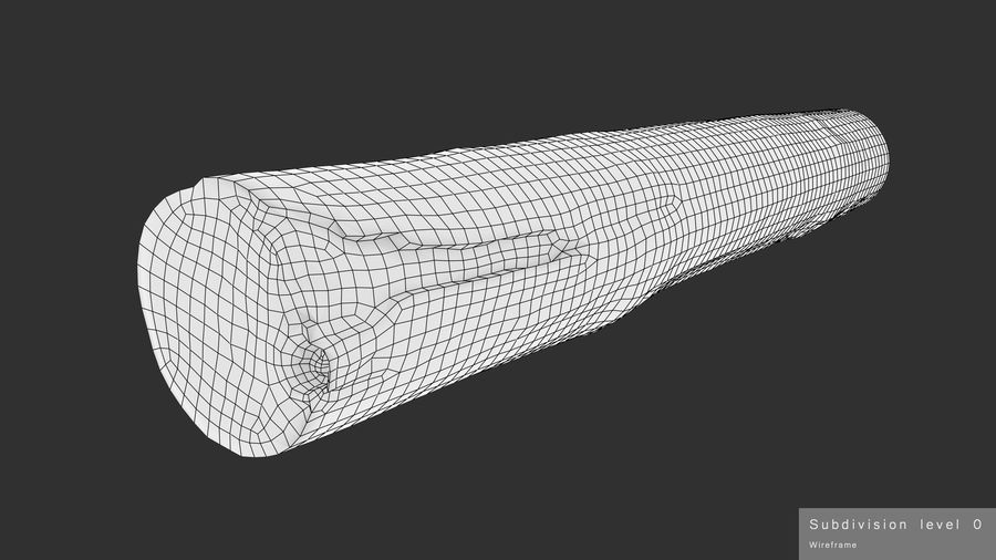 Debarked Pine Log royalty-free 3d model - Preview no. 14