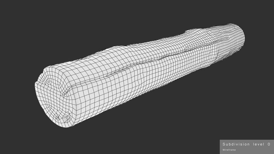 Debarked Pine Log royalty-free 3d model - Preview no. 17