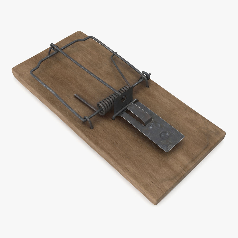 Mouse Trap Aged royalty-free 3d model - Preview no. 1