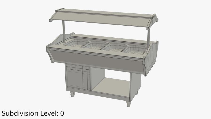 Saladbar Cold royalty-free 3d model - Preview no. 8