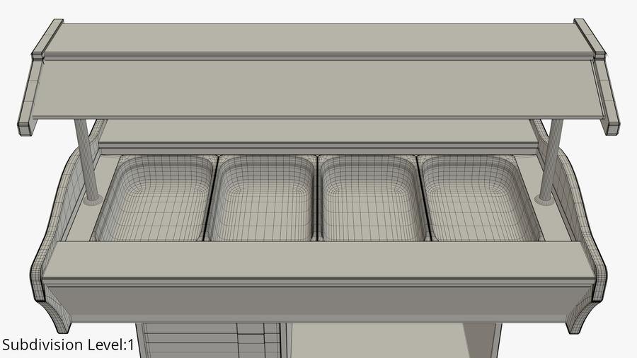Saladbar Cold royalty-free 3d model - Preview no. 11