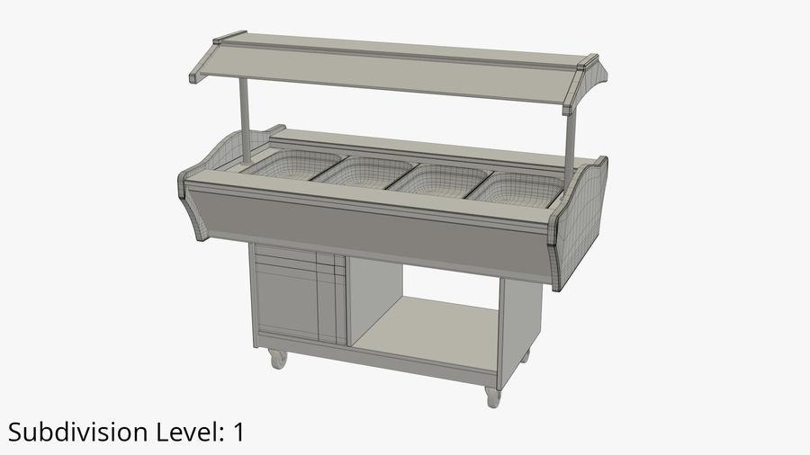 Saladbar Cold royalty-free 3d model - Preview no. 9