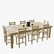 Tavolo con sedie 3d model