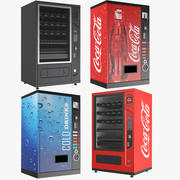 Four Vending machines 3d model