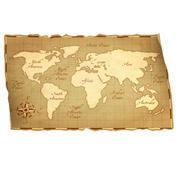 Cartoon World Map 3d model