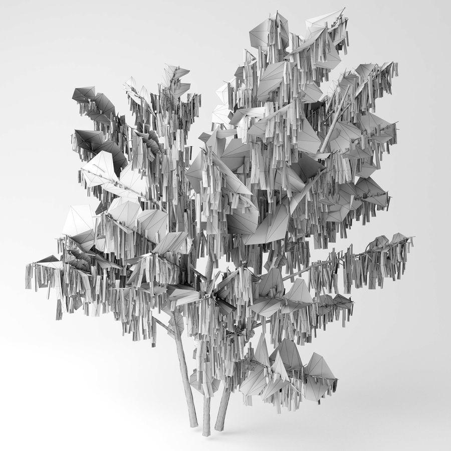 Hazel tree royalty-free 3d model - Preview no. 2