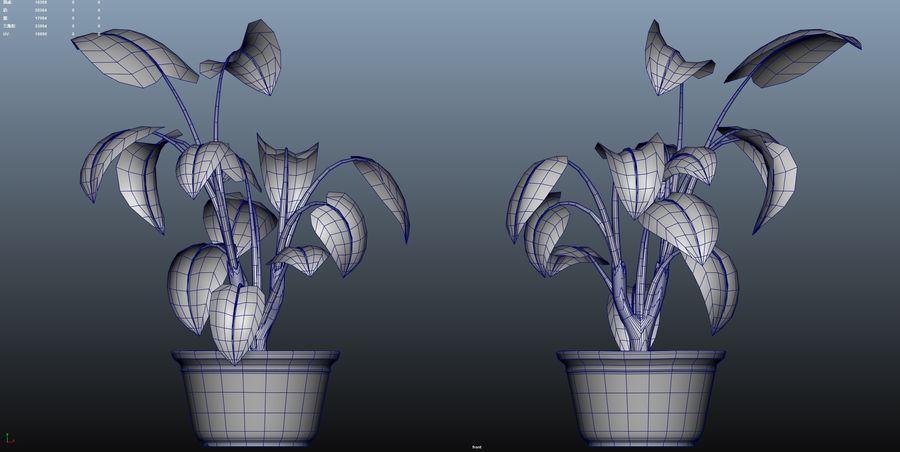cartoon pottedPlant royalty-free 3d model - Preview no. 3