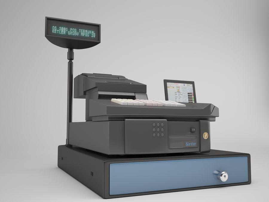 Cash Register royalty-free 3d model - Preview no. 4