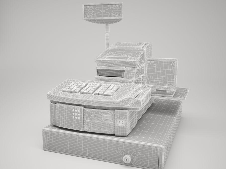 Cash Register royalty-free 3d model - Preview no. 5