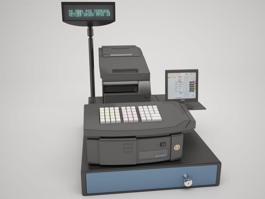 Cash Register royalty-free 3d model - Preview no. 3