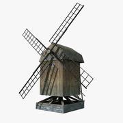 Viejo molino de viento modelo 3d