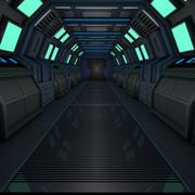 Научно-фантастический коридор (1) 3d model