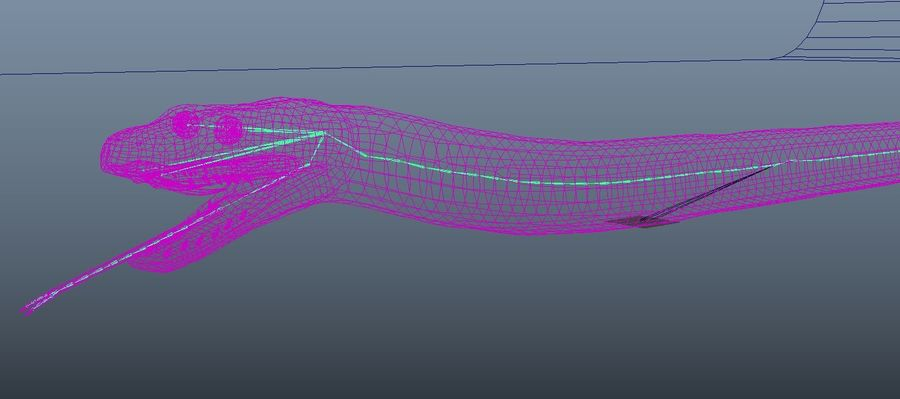 snake green bamboo snake reptile animal boa constrictor royalty-free 3d model - Preview no. 9