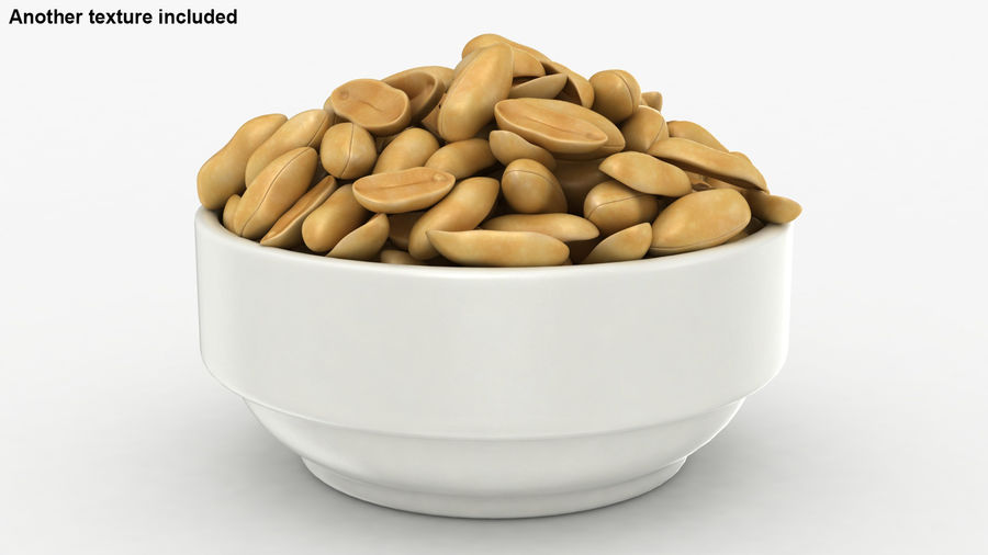 Peanuts in Bowl royalty-free 3d model - Preview no. 4