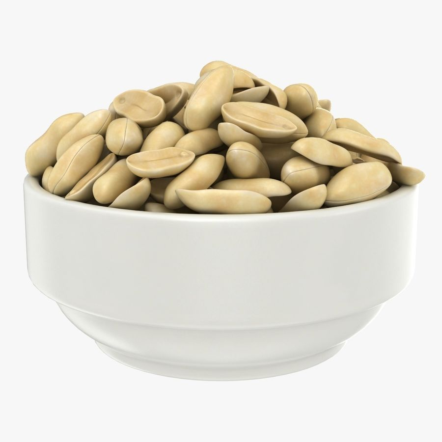 Peanuts in Bowl royalty-free 3d model - Preview no. 1