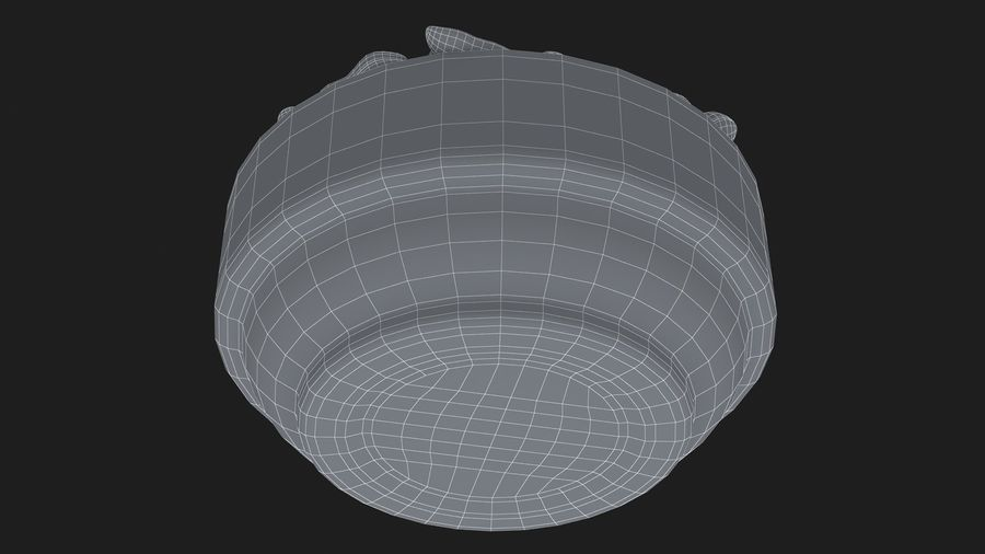 Peanuts in Bowl royalty-free 3d model - Preview no. 19