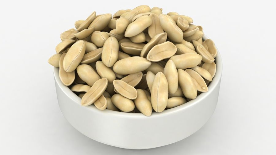Peanuts in Bowl royalty-free 3d model - Preview no. 17