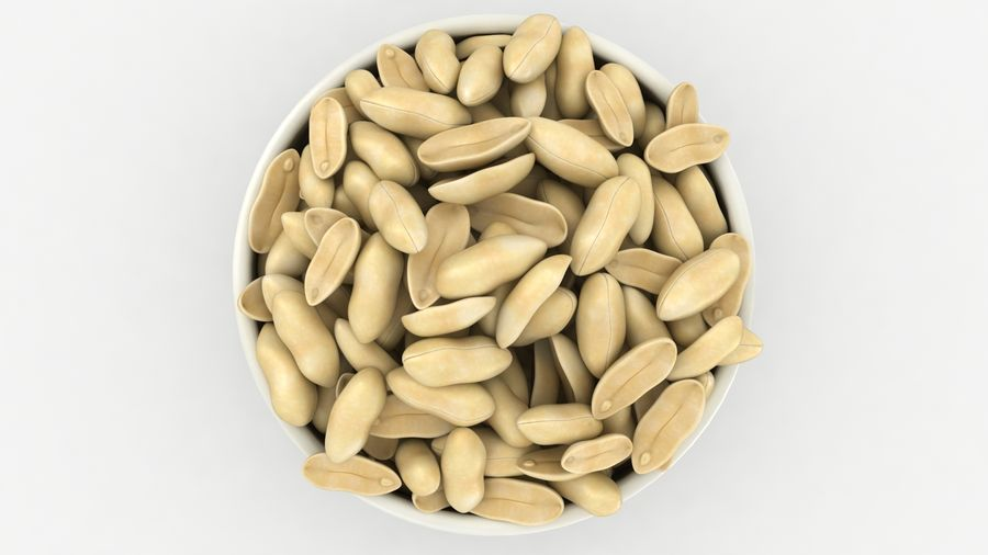 Peanuts in Bowl royalty-free 3d model - Preview no. 14