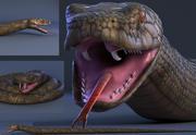 cobra réptil animal jibóia 3d model