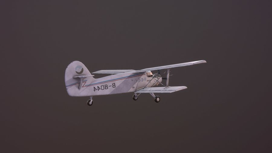 plane top-dressing aircraft airplane seeder biplane Low-poly royalty-free 3d model - Preview no. 9