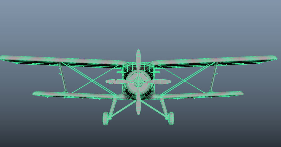 plane top-dressing aircraft airplane seeder biplane Low-poly royalty-free 3d model - Preview no. 19