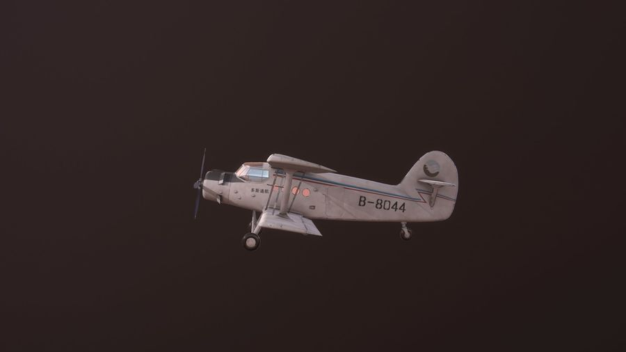 plane top-dressing aircraft airplane seeder biplane Low-poly royalty-free 3d model - Preview no. 2