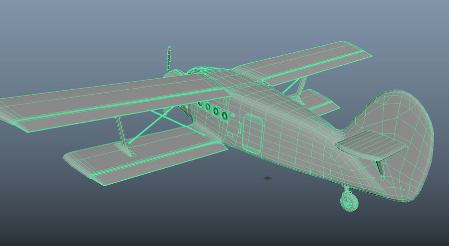 plane top-dressing aircraft airplane seeder biplane Low-poly royalty-free 3d model - Preview no. 18