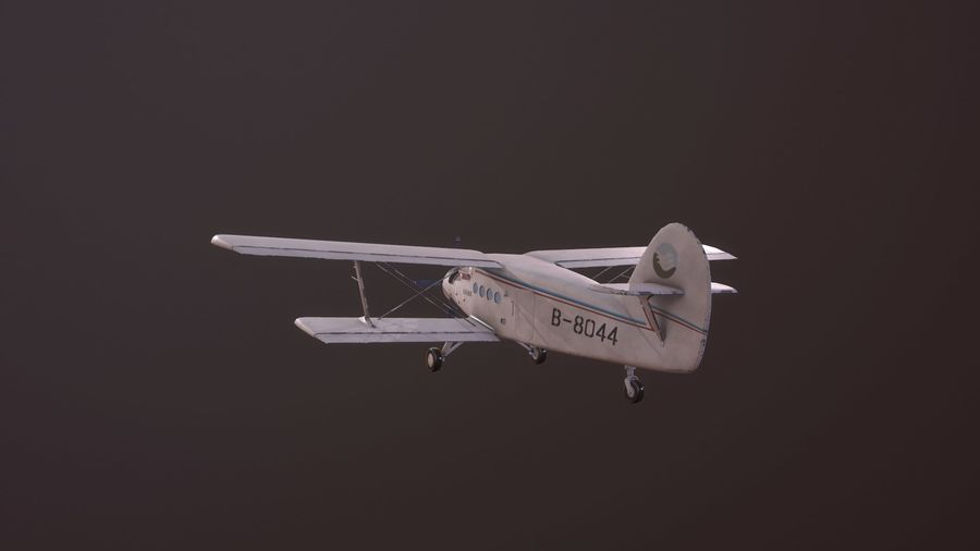 plane top-dressing aircraft airplane seeder biplane Low-poly royalty-free 3d model - Preview no. 5