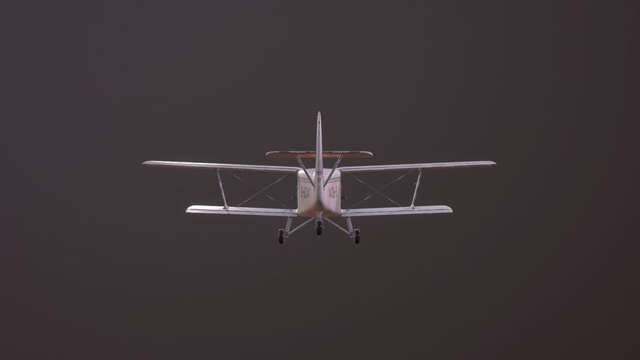 plane top-dressing aircraft airplane seeder biplane Low-poly royalty-free 3d model - Preview no. 8
