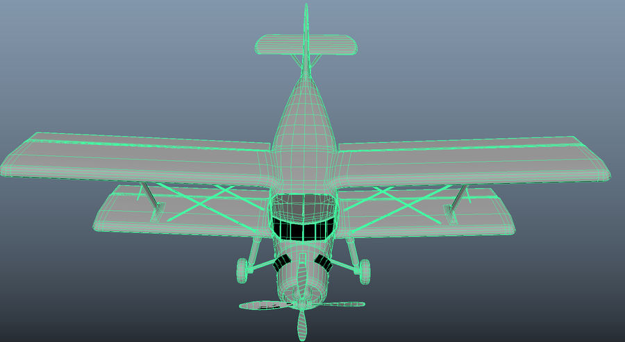 plane top-dressing aircraft airplane seeder biplane Low-poly royalty-free 3d model - Preview no. 21