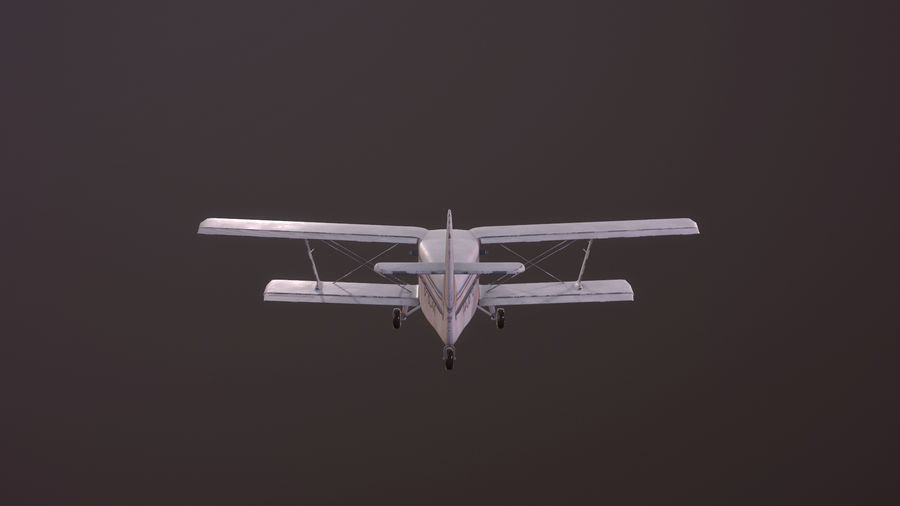 plane top-dressing aircraft airplane seeder biplane Low-poly royalty-free 3d model - Preview no. 7