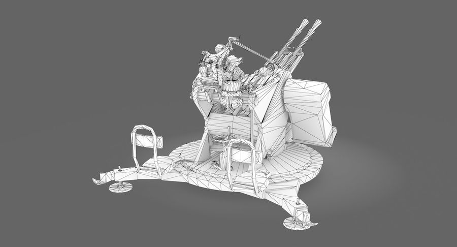 Anti aircraft gun ZPU royalty-free 3d model - Preview no. 11