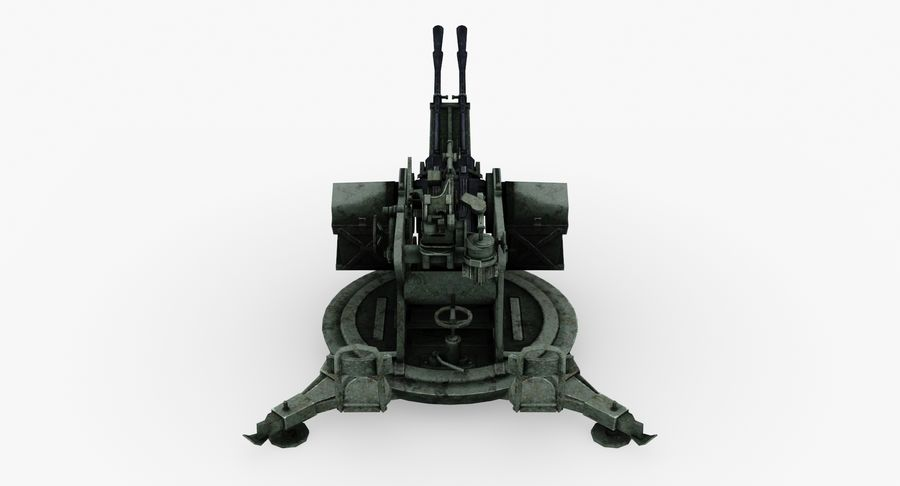 Anti aircraft gun ZPU royalty-free 3d model - Preview no. 6