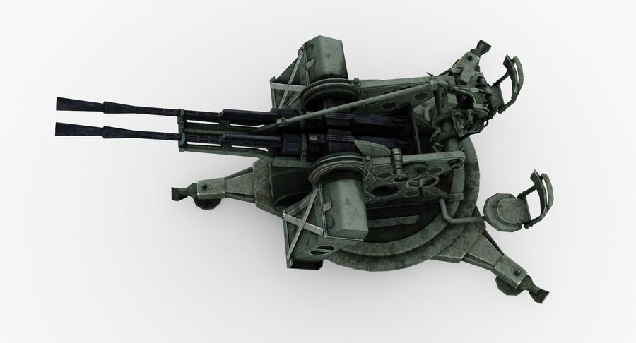 Anti aircraft gun ZPU royalty-free 3d model - Preview no. 7
