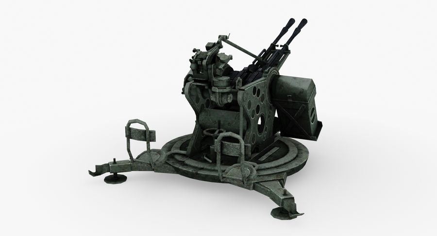Anti aircraft gun ZPU royalty-free 3d model - Preview no. 5