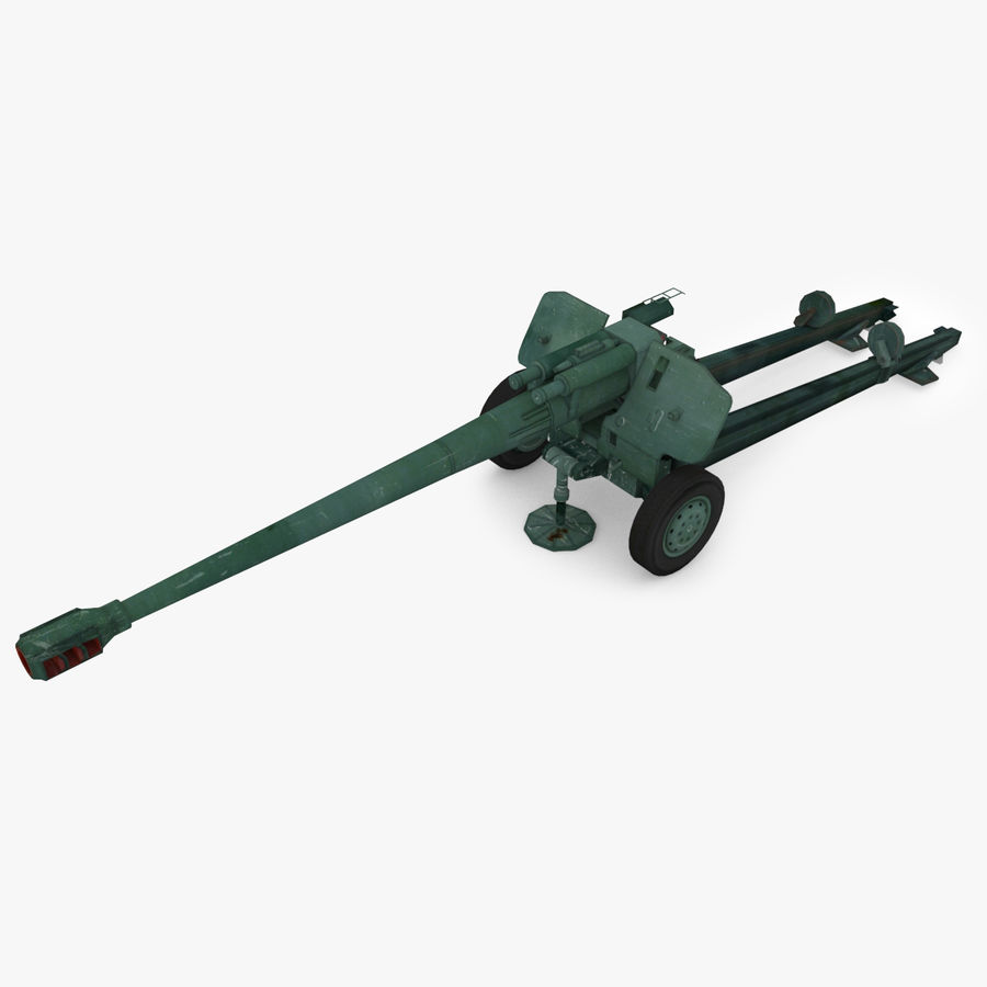 Howitzer 2A65 type 01 royalty-free 3d model - Preview no. 1