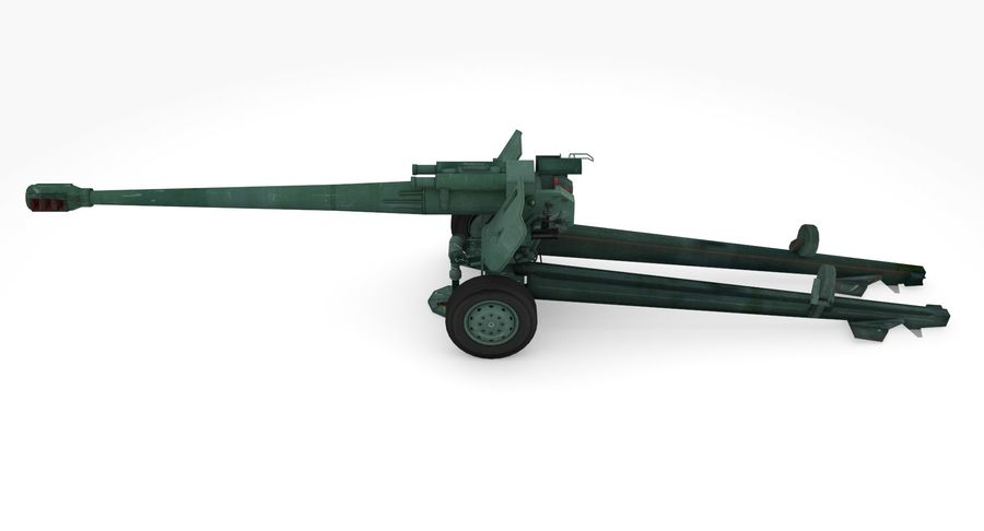 Howitzer 2A65 type 01 royalty-free 3d model - Preview no. 7