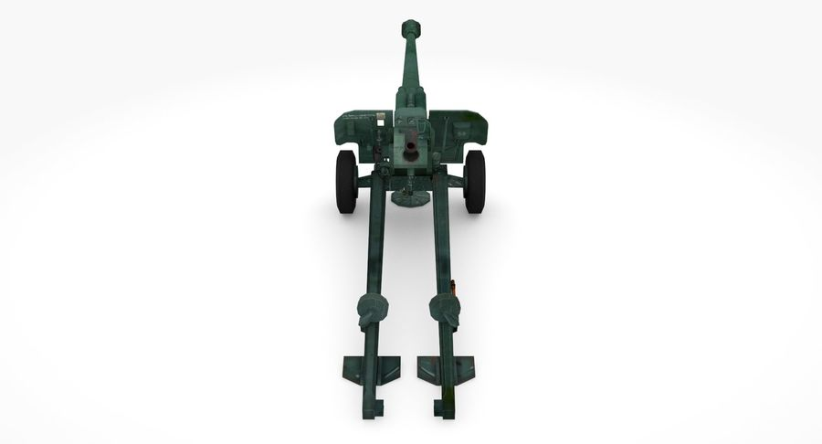 Howitzer 2A65 type 01 royalty-free 3d model - Preview no. 6