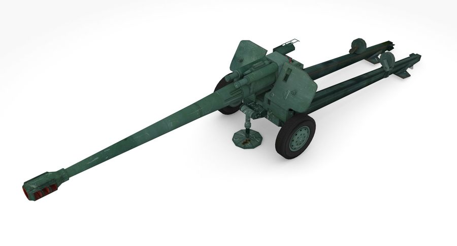Howitzer 2A65 type 01 royalty-free 3d model - Preview no. 2