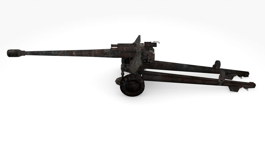 Howitzer 2A65 type 03 royalty-free 3d model - Preview no. 7