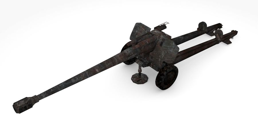 Howitzer 2A65 type 03 royalty-free 3d model - Preview no. 2