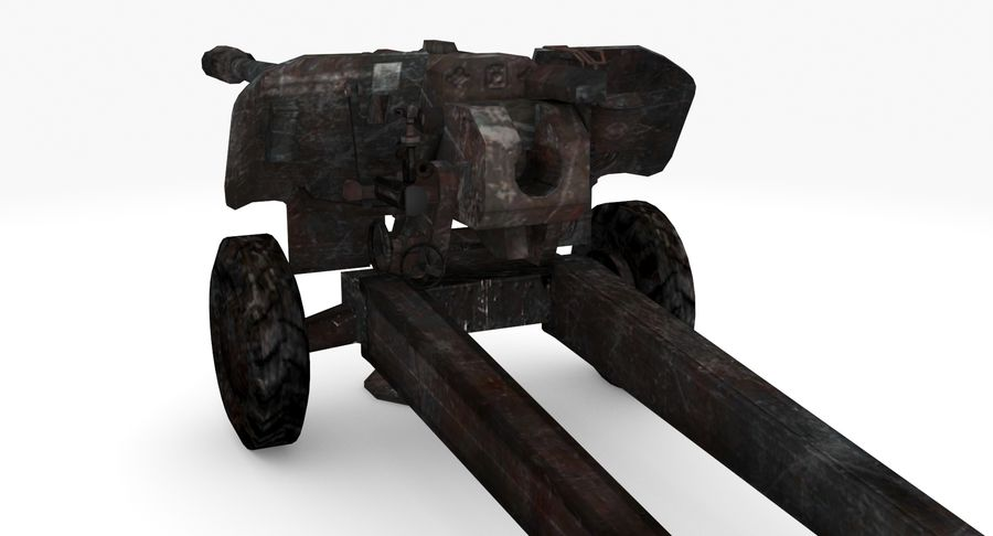 Howitzer 2A65 type 03 royalty-free 3d model - Preview no. 3