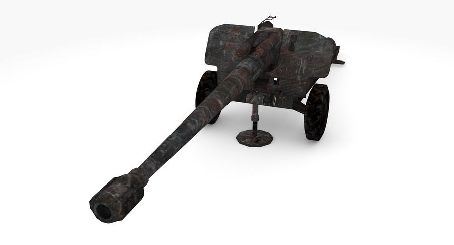 Howitzer 2A65 type 03 royalty-free 3d model - Preview no. 4