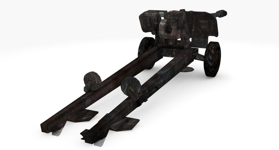 Howitzer 2A65 type 03 royalty-free 3d model - Preview no. 5