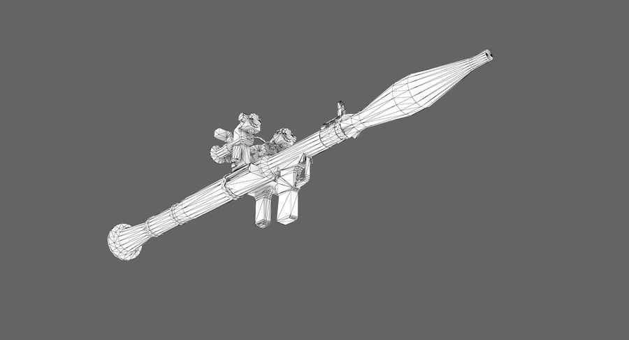 Rocket launcher type 01 royalty-free 3d model - Preview no. 11