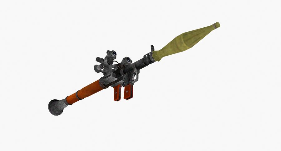 Rocket launcher type 01 royalty-free 3d model - Preview no. 6