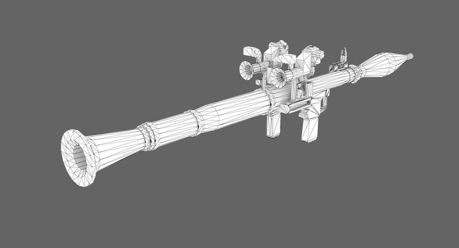 Rocket launcher type 01 royalty-free 3d model - Preview no. 10